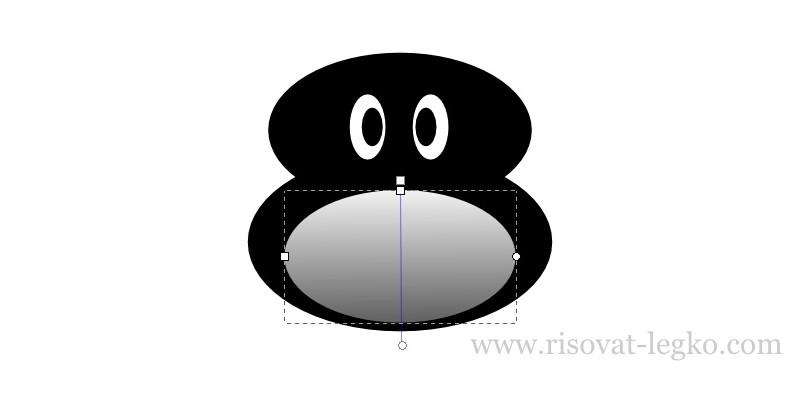 04.Как нарисовать пингвина в программе Inkscape