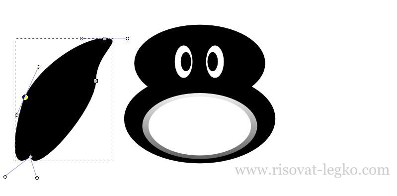 06.Как нарисовать пингвина в программе Inkscape