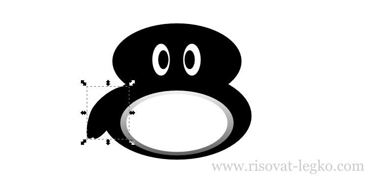 07.Как нарисовать пингвина в программе Inkscape
