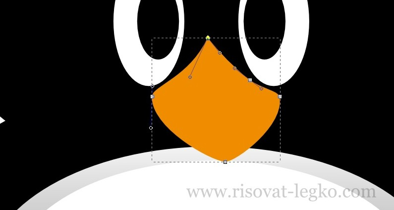 09.Как нарисовать пингвина в программе Inkscape