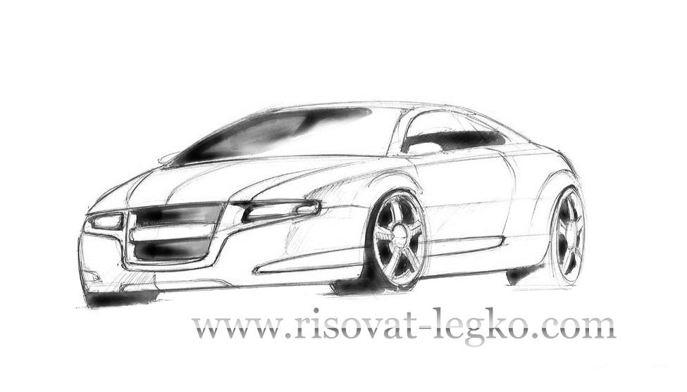 01.Как нарисовать машину поэтапно карандашом