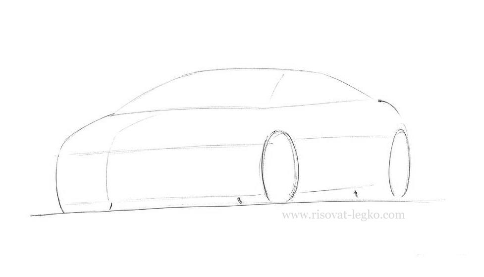 04.Как нарисовать машину поэтапно карандашом