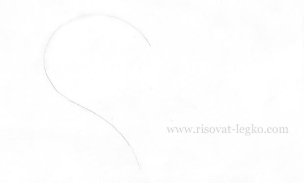02.Как нарисовать сердце карандашом поэтапно