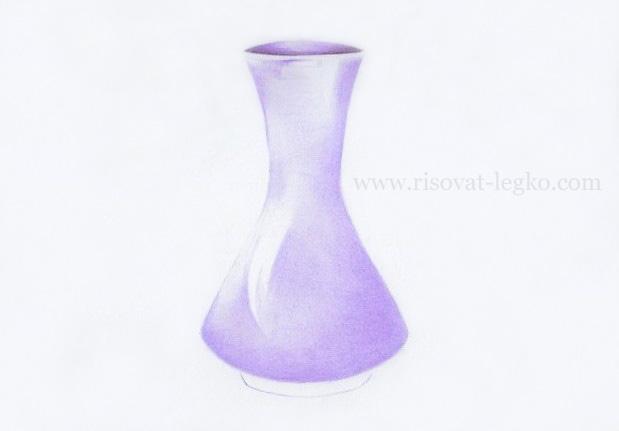 06.Как нарисовать вазу карандашом поэтапно