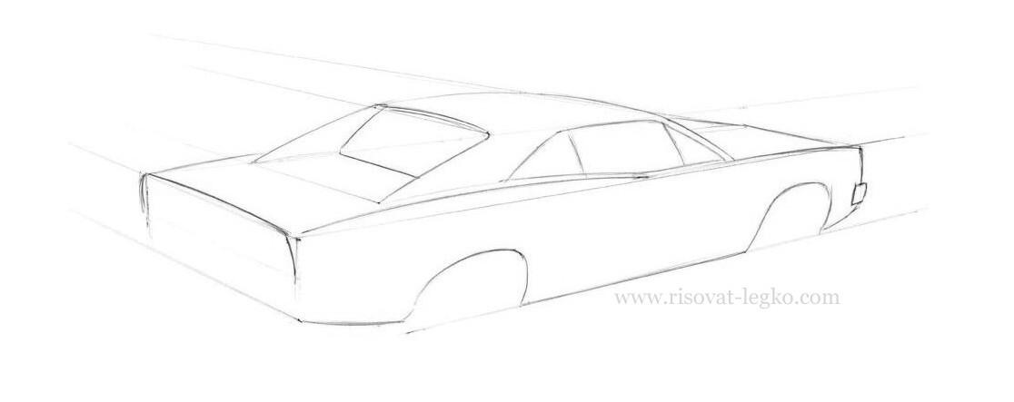 03.Как нарисовать машину карандашом поэтапно