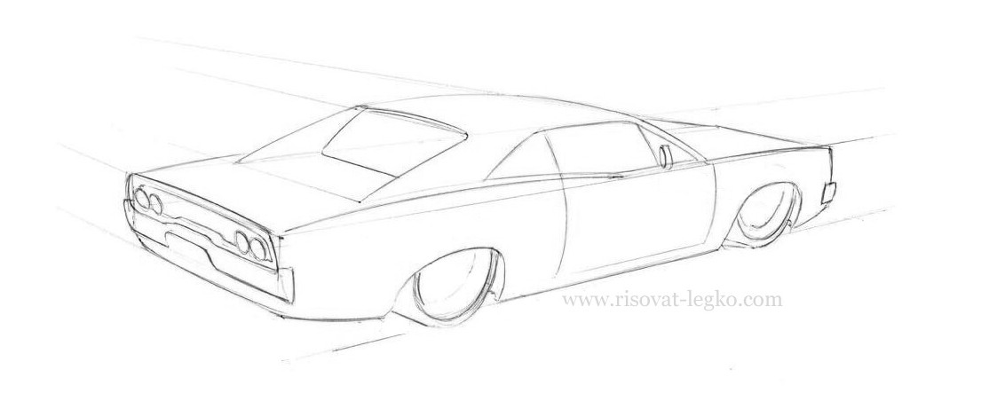 05.Как нарисовать машину карандашом поэтапно