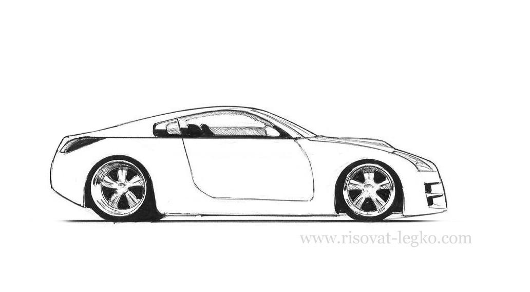 01,Как рисовать машину поэтапно карандашом