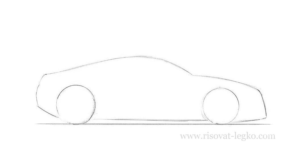 03.Как рисовать машину поэтапно карандашом
