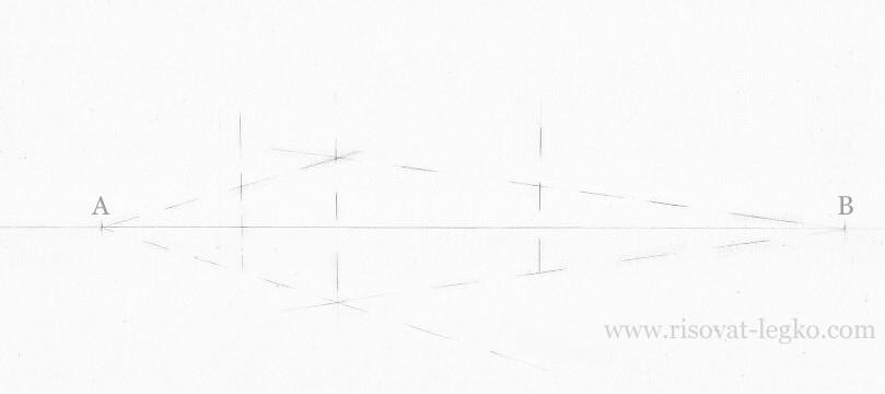 04.Как нарисовать дом поэтапно карандашом