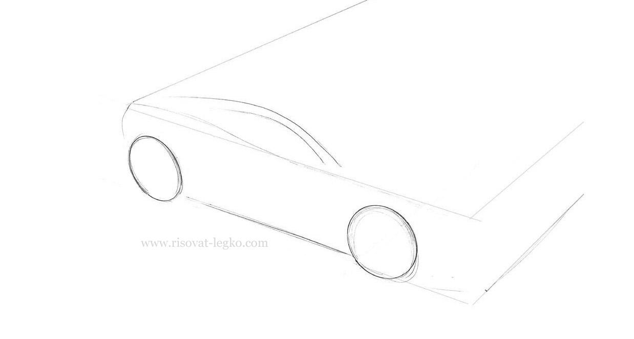 02.Как нарисовать машину поэтапно карандашом