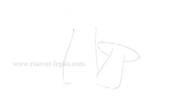 04.Как нарисовать грибы поэтапно карандашом