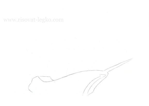 04.Как нарисовать корабль поэтапно карандашом