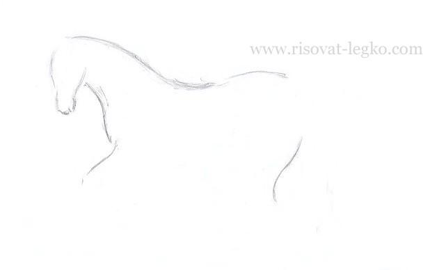 06.Как нарисовать лошадь поэтапно карандашом