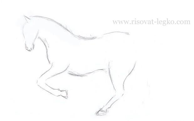 08.Как нарисовать лошадь поэтапно карандашом
