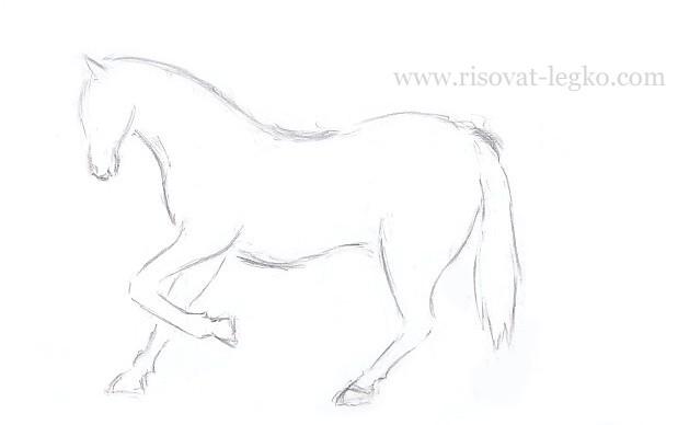 09.Как нарисовать лошадь поэтапно карандашом