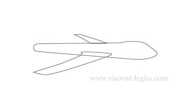 02.Как нарисовать самолет поэтапно карандашом