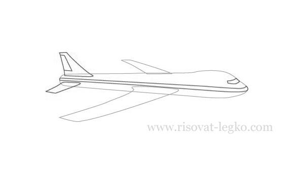 03.Как нарисовать самолет поэтапно карандашом