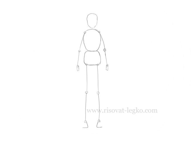 02.Как нарисовать человека поэтапно карандашом