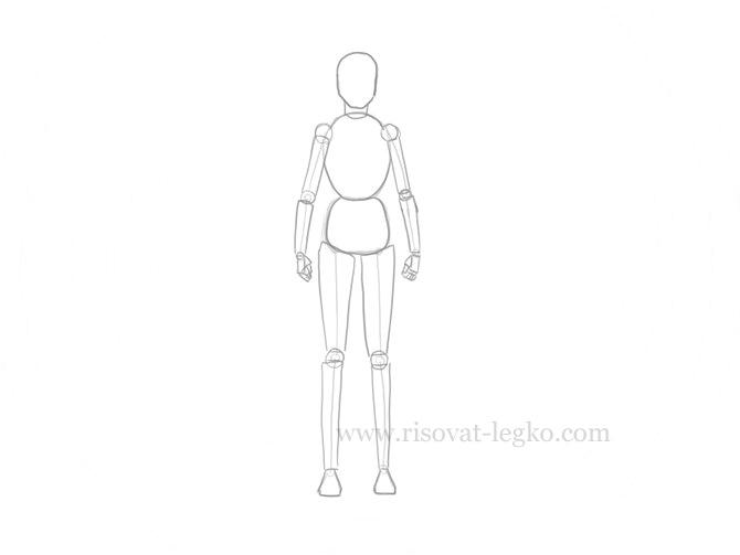 03.Как нарисовать человека поэтапно карандашом