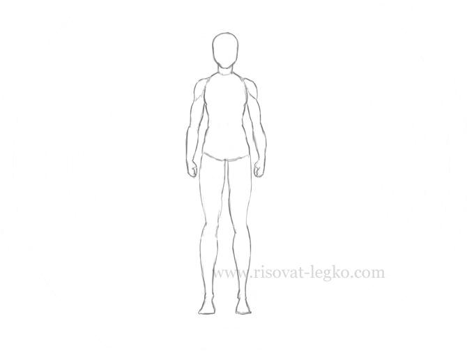 05.Как нарисовать человека поэтапно карандашом