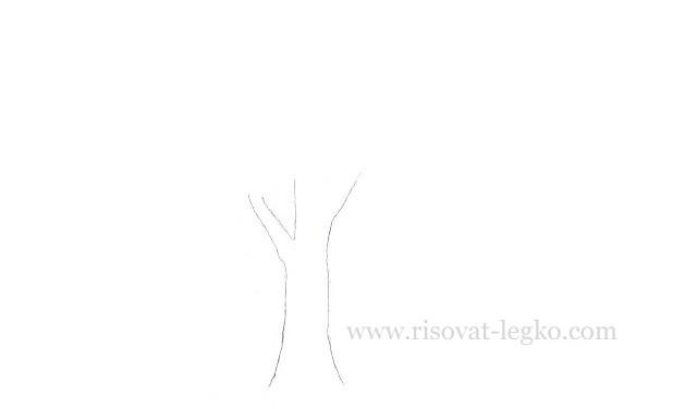 03.Как нарисовать дерево карандашом для начинающих