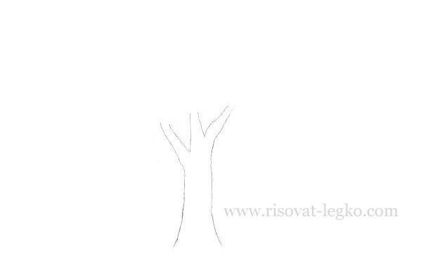 04.Как нарисовать дерево карандашом для начинающих