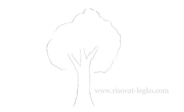 05.Как нарисовать дерево карандашом для начинающих