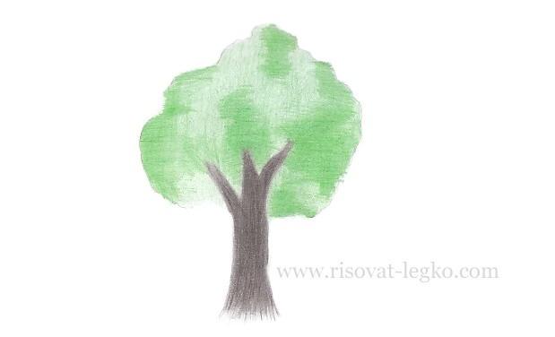 07.Как нарисовать дерево карандашом для начинающих