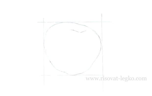 02.Как нарисовать яблоко поэтапно карандашом