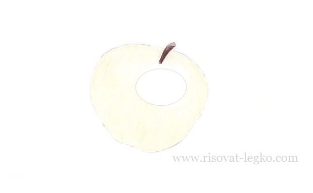04.Как нарисовать яблоко поэтапно карандашом