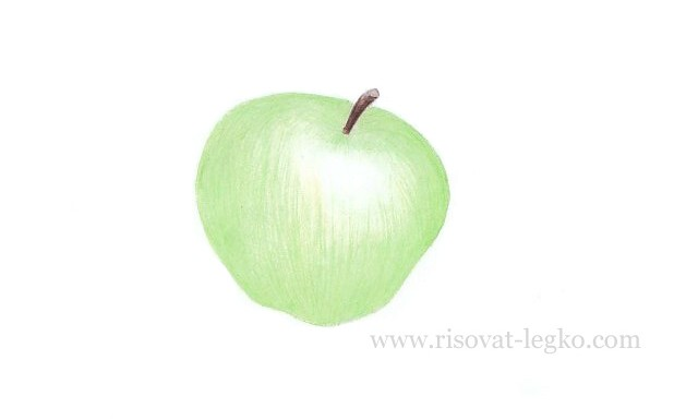 05.Как нарисовать яблоко поэтапно карандашом