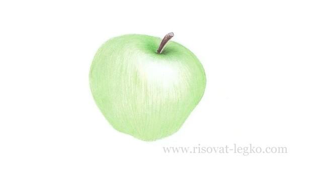 06.Как нарисовать яблоко поэтапно карандашом
