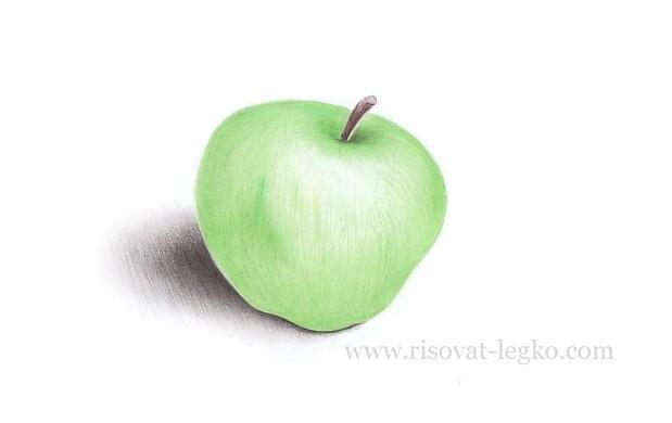 08.Как нарисовать яблоко поэтапно карандашом