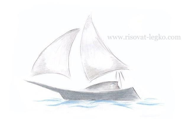 01.Как нарисовать корабль поэтапно для начинающих