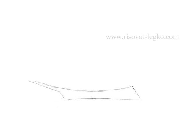 02.Как нарисовать корабль поэтапно для начинающих