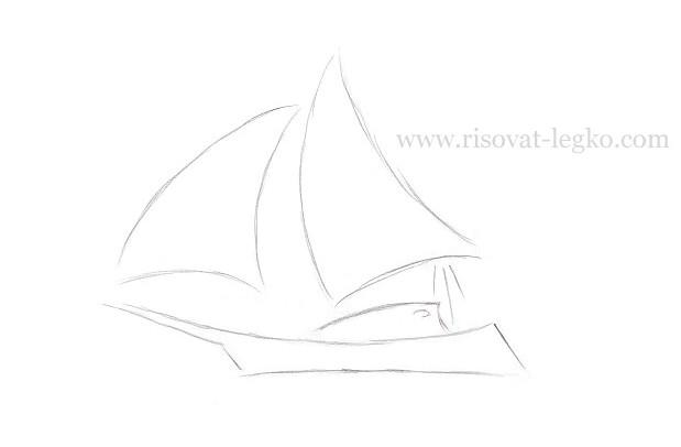 05.Как нарисовать корабль поэтапно для начинающих