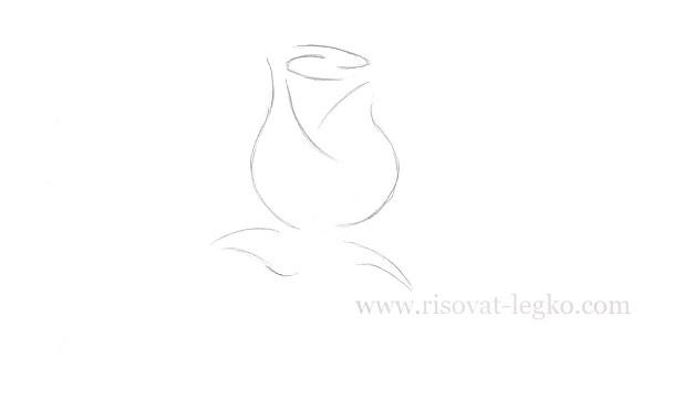 05.Как нарисовать розу поэтапно легко за 5 минут!