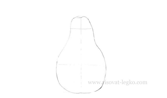 03.Как нарисовать грушу поэтапно карандашом