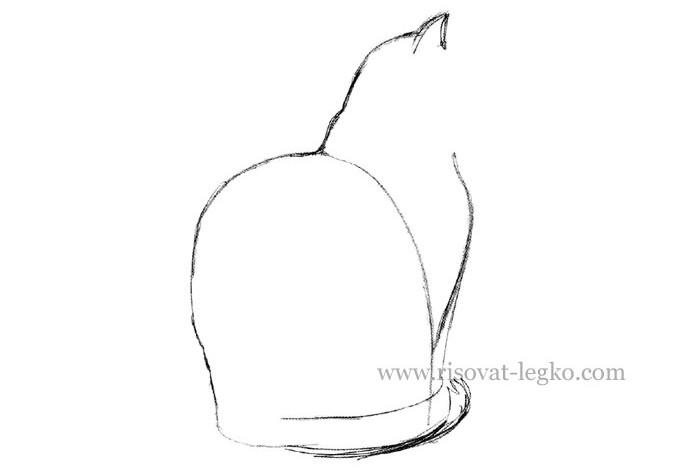 04.Как нарисовать кошку карандашом поэтапно