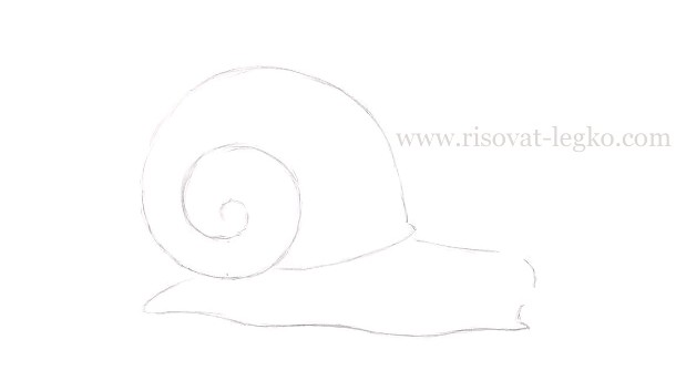 04.Как нарисовать улитку поэтапно карандашом