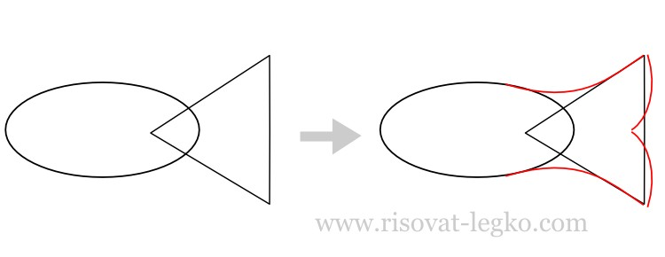 02.Как рисовать рыбу поэтапно карандашом: лучшие уроки