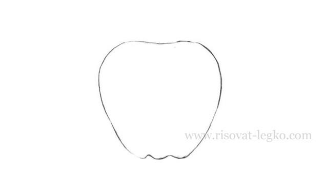 03.Как нарисовать яблоко карандашом поэтапно