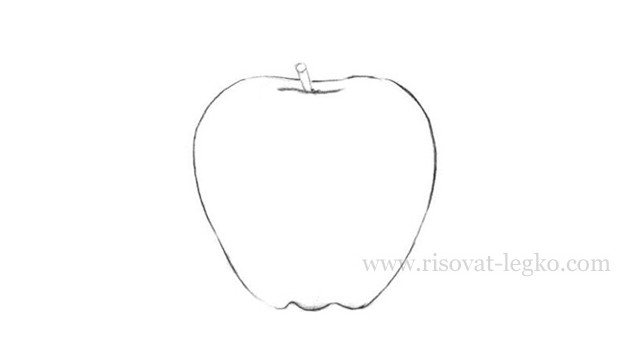 04.Как нарисовать яблоко карандашом поэтапно