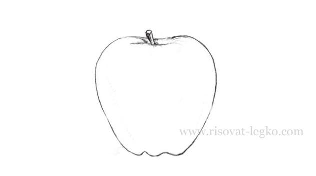 05.Как нарисовать яблоко карандашом поэтапно