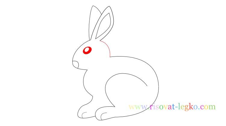 10.Как нарисовать кролика поэтапно для детей