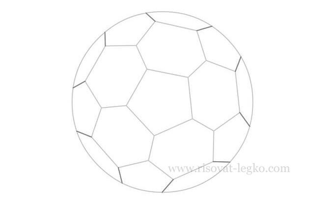 08.Как нарисовать мяч карандашом поэтапно легко