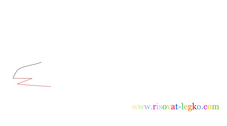 03.Рисование поэтапно для детей: рисуем динозавра