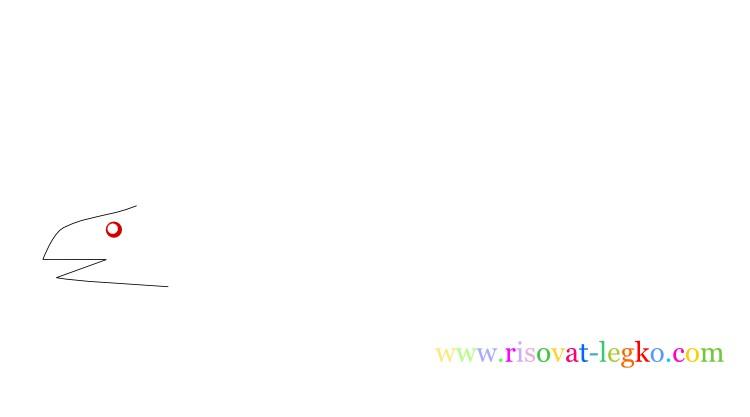 04.Рисование поэтапно для детей: рисуем динозавра