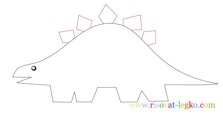 08.Рисование поэтапно для детей: рисуем динозавра