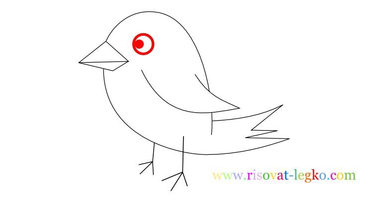 10.Уроки рисования для детей: рисуем красивую птицу